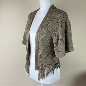 American Rag Cie Boho Knit Fringe Sweater